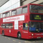 picture of a red 588 bus in London