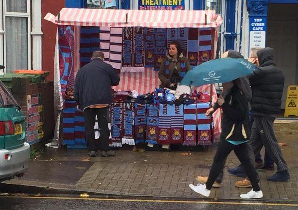 Drew Scarf Seller West Ham